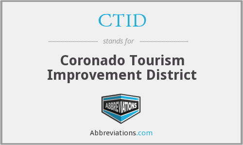CTID - Coronado Tourism Improvement District