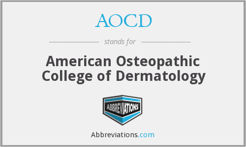 What does AOCD stand for?