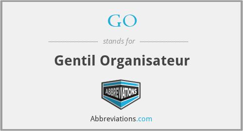GO - Gentil Organisateur