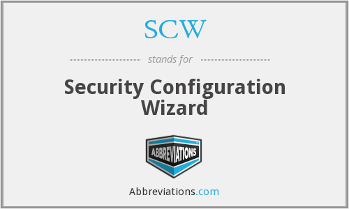 SCW - Security Configuration Wizard