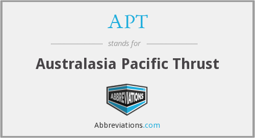 APT - Australasia Pacific Thrust