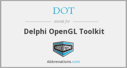 DOT - Delphi OpenGL Toolkit