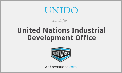 What does UNIDO stand for?