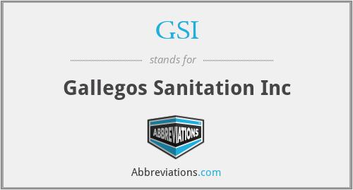 GSI - Gallegos Sanitation Inc