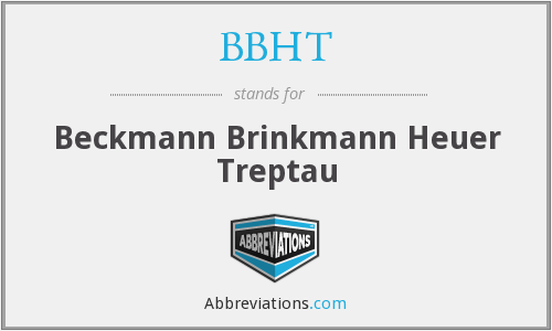 What does BBHT stand for?