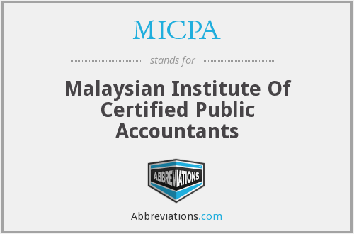 What does MICPA stand for?