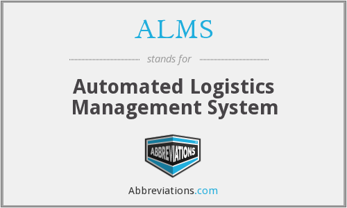 ALMS - Automated Logistics Management System