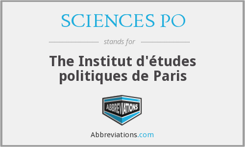 What does SCIENCES PO stand for?