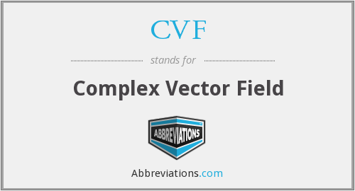 CVF - Complex Vector Field