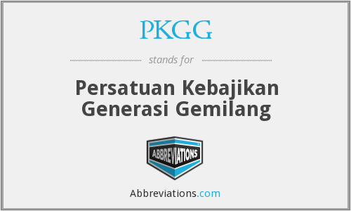 What does PKGG stand for?