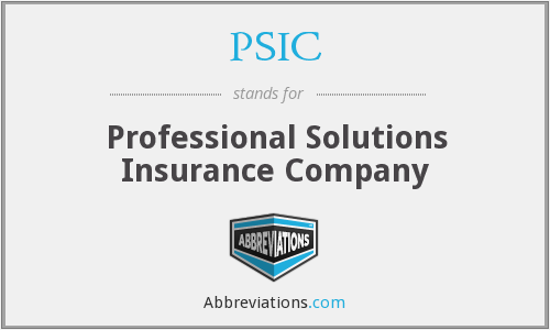 PSIC - Professional Solutions Insurance Company