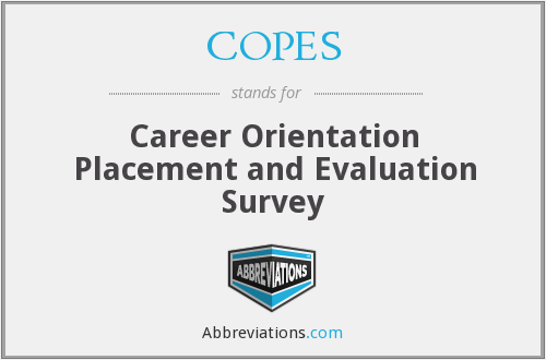 COPES - Career Orientation Placement and Evaluation Survey