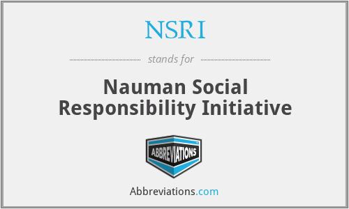 NSRI - Nauman Social Responsibility Initiative