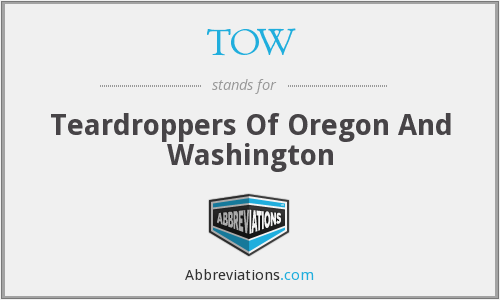 TOW - Teardroppers Of Oregon And Washington