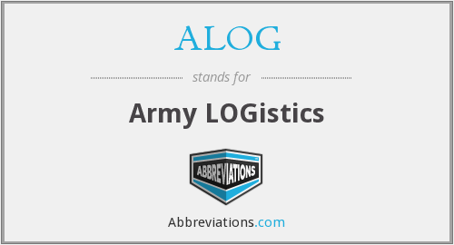 What does ALOG stand for?