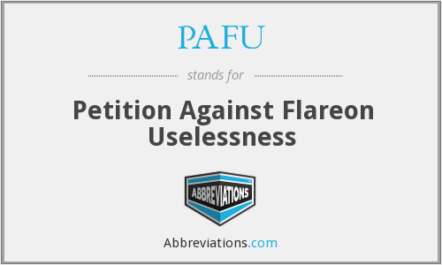 What does uselessness stand for?