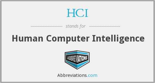 HCI - Human Computer Intelligence