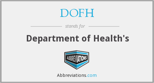 DOFH - Department of Health's