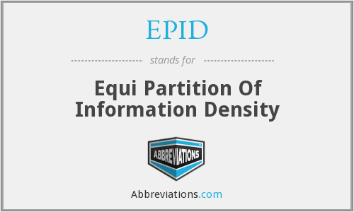 EPID - Equi Partition Of Information Density
