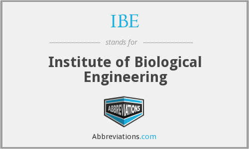 IBE - Institute of Biological Engineering