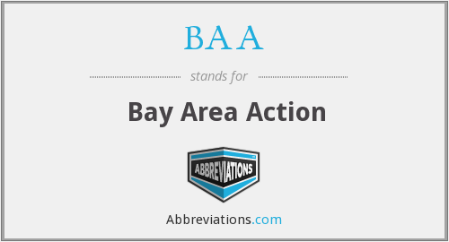 BAA - Bay Area Action