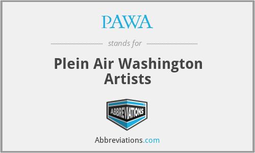 PAWA - Plein Air Washington Artists