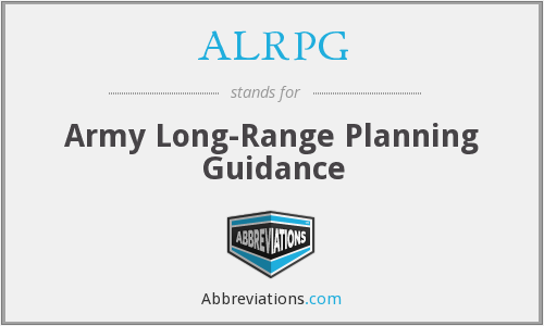 What does ALRPG stand for?