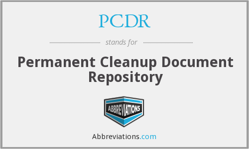 PCDR - Permanent Cleanup Document Repository