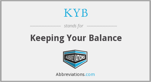 KYB - Keeping Your Balance