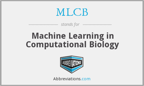 MLCB - Machine Learning in Computational Biology