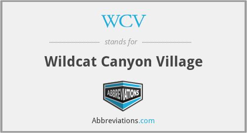WCV - Wildcat Canyon Village