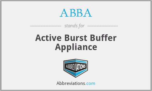 ABBA - Active Burst Buffer Appliance