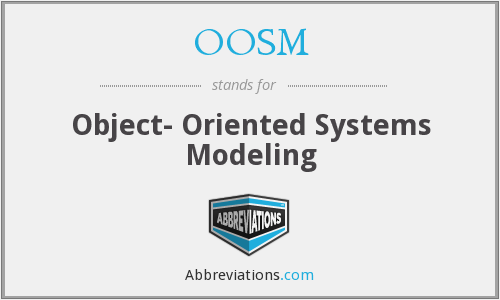 OOSM - Object- Oriented Systems Modeling