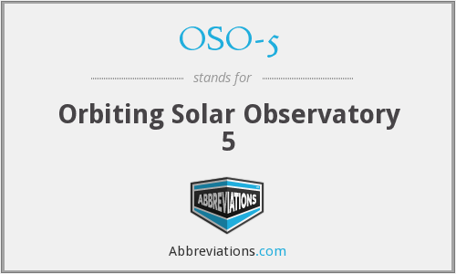 OSO-5 - Orbiting Solar Observatory 5