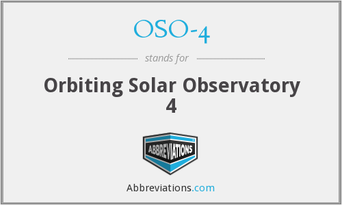 OSO-4 - Orbiting Solar Observatory 4
