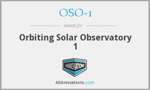 What does OSO-1 stand for?