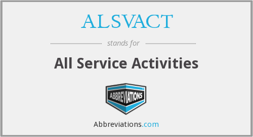 What does ALSVACT stand for?