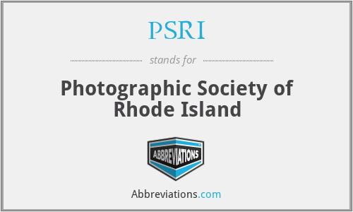 PSRI - Photographic Society of Rhode Island