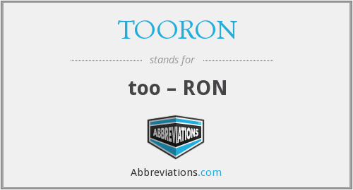What does TOORON stand for?
