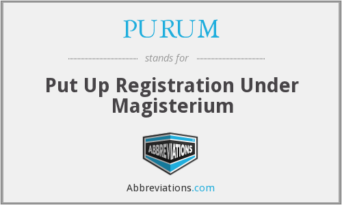 What does PURUM stand for?