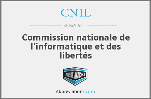 What does CNIL stand for?