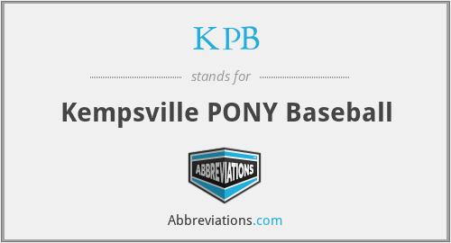KPB - Kempsville PONY Baseball