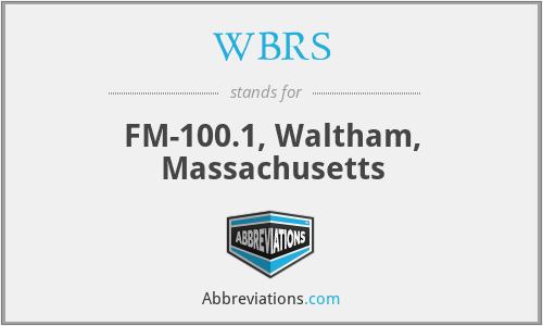 WBRS - FM-100.1, Waltham, Massachusetts