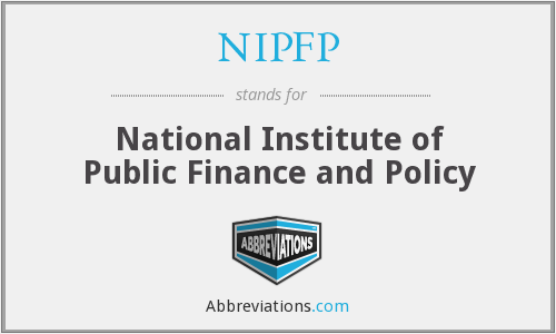 What does NIPFP stand for?