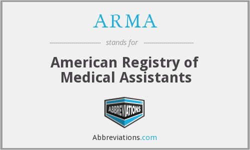 ARMA - American Registry of Medical Assistants