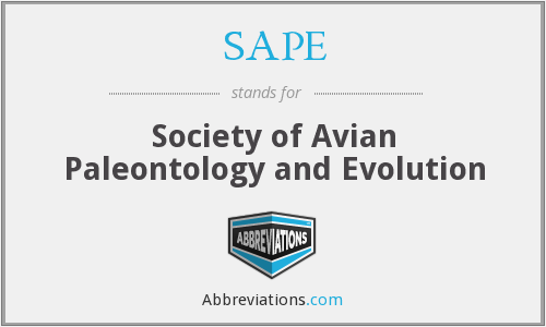 SAPE - Society of Avian Paleontology and Evolution
