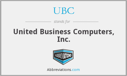 UBC - United Business Computers, Inc.