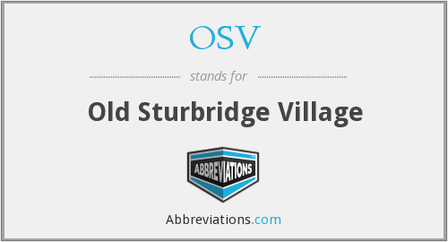 What does OSV stand for?