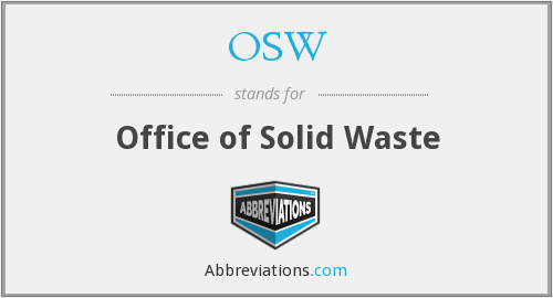 OSW - Office of Solid Waste