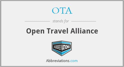 OTA - Open Travel Alliance